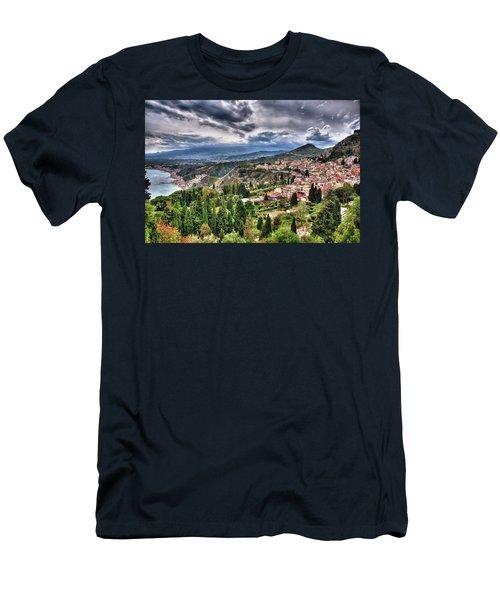 Sicilian Coast Men's T-Shirt (Slim Fit) by Patrick Boening