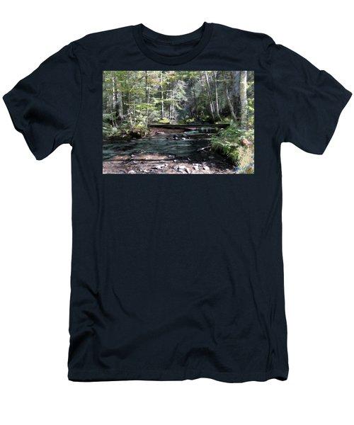 Men's T-Shirt (Slim Fit) featuring the digital art Side Brook by John Selmer Sr