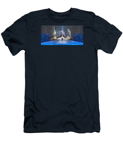 Silent Night  A Kiss From Paris And Back Men's T-Shirt (Athletic Fit)