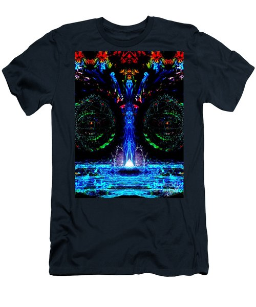 Silent Waterfall Men's T-Shirt (Athletic Fit)