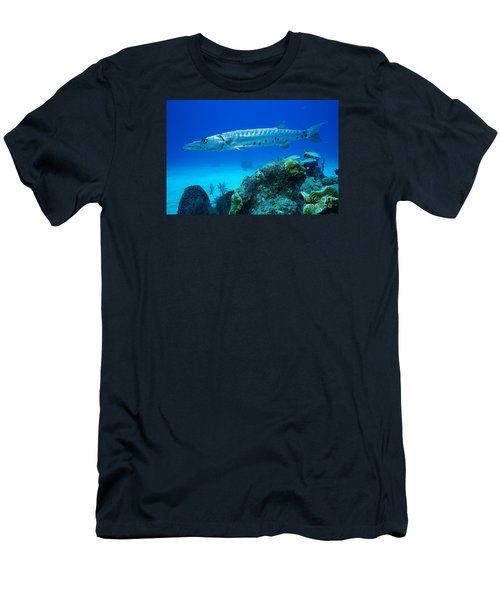 Silver Stalker Men's T-Shirt (Slim Fit) by Aaron Whittemore