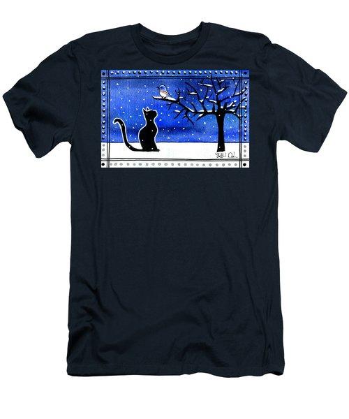 Sing For Me - Black Cat Card Men's T-Shirt (Athletic Fit)