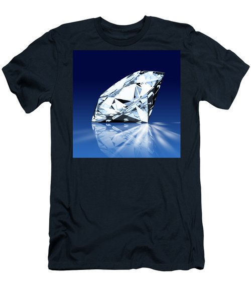Single Blue Diamond Men's T-Shirt (Athletic Fit)