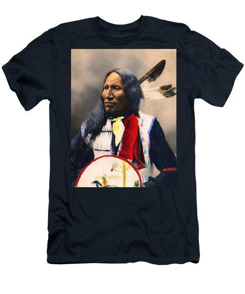 Sioux Chief Portrait Men's T-Shirt (Athletic Fit)