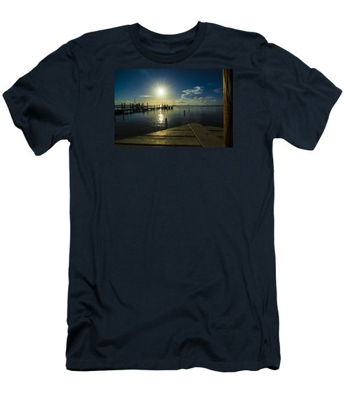 Sitting On The Dock Of The Bay Men's T-Shirt (Slim Fit) by Kevin Cable