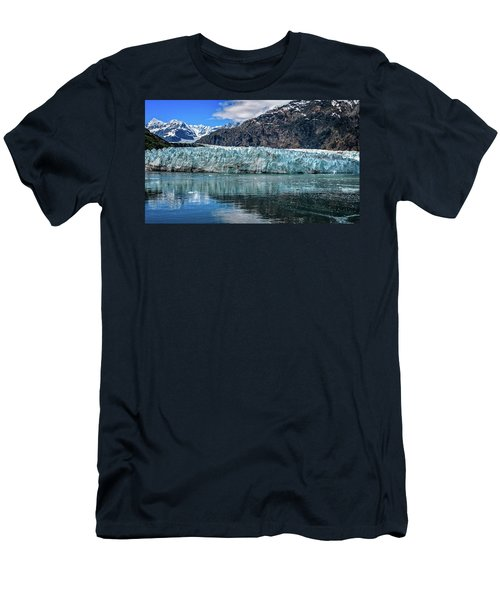 Men's T-Shirt (Athletic Fit) featuring the photograph Size Perspective No Margerie Glacier by John Hight