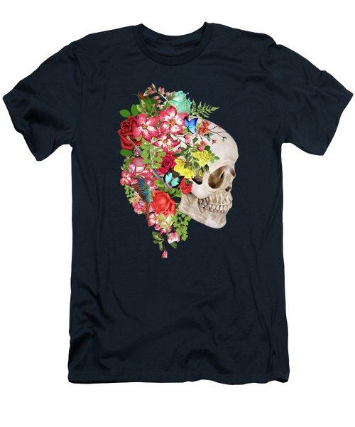 Skull Floral 2 Men's T-Shirt (Athletic Fit)