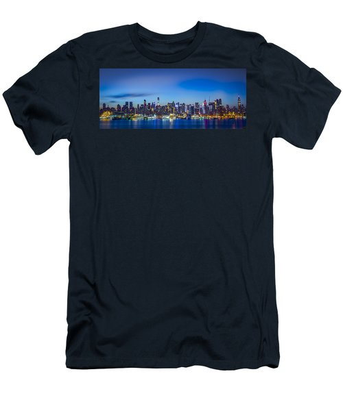 Skyline Nyc Before Sunrise Men's T-Shirt (Athletic Fit)