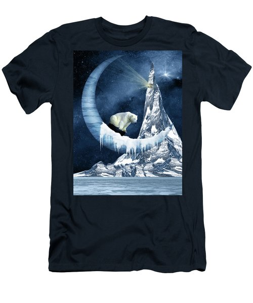 Sliding On The Moon Men's T-Shirt (Slim Fit) by Mihaela Pater