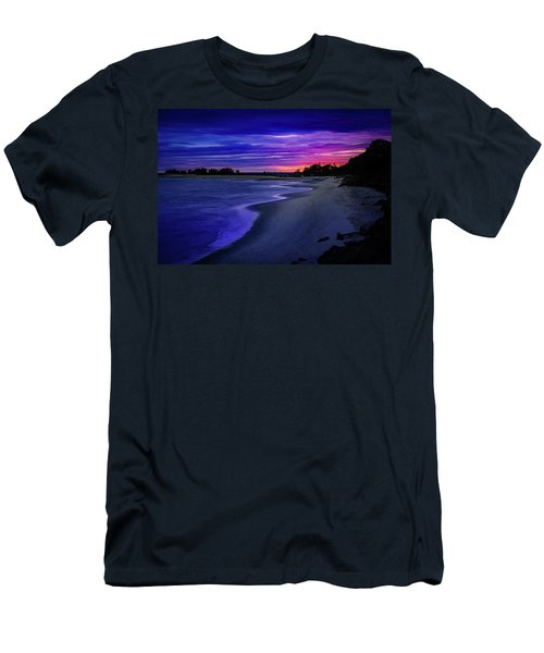 Slow Waves Erupting Clouds Men's T-Shirt (Athletic Fit)
