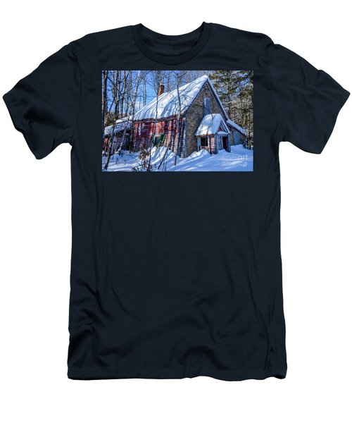 Small Abandon House Men's T-Shirt (Athletic Fit)