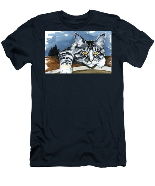 Smilla - Maine Coon Cat Painting Men's T-Shirt (Athletic Fit)