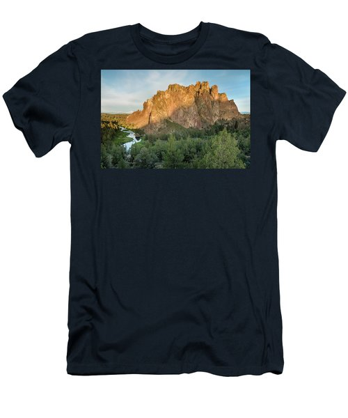 Men's T-Shirt (Slim Fit) featuring the photograph Smith Rock First Light by Greg Nyquist