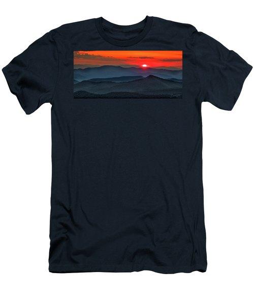 Smokies Sunset Men's T-Shirt (Athletic Fit)