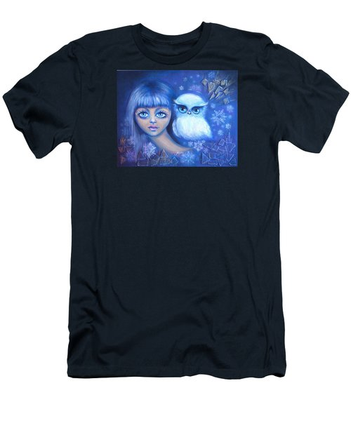 Snow Children Men's T-Shirt (Slim Fit) by Agata Lindquist