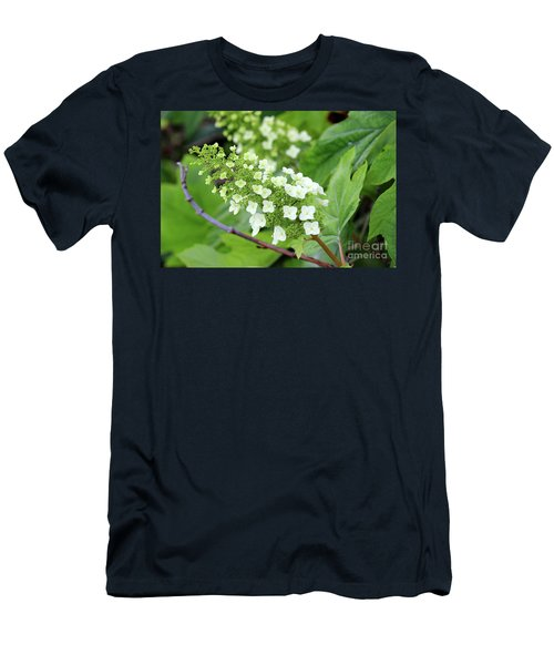Snow Queen Hydrangea Men's T-Shirt (Athletic Fit)