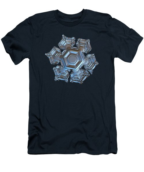 Snowflake Photo - Cold Metal Men's T-Shirt (Athletic Fit)
