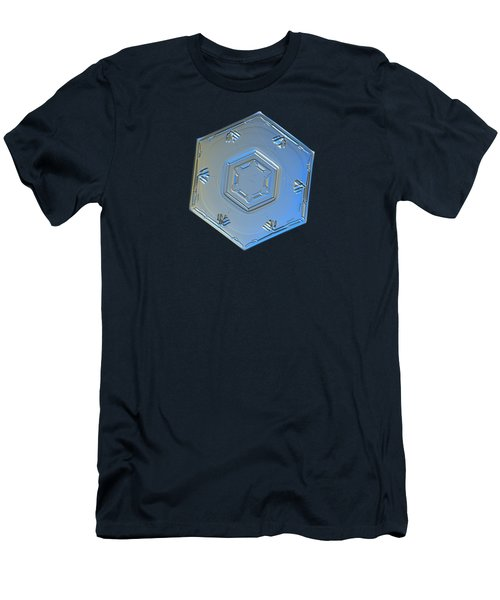 Men's T-Shirt (Slim Fit) featuring the photograph Snowflake Photo - Cryogenia by Alexey Kljatov