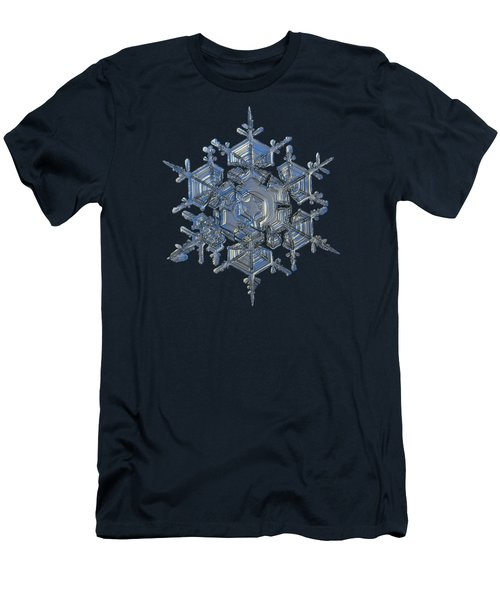Snowflake Photo - Crystal Of Chaos And Order Men's T-Shirt (Athletic Fit)