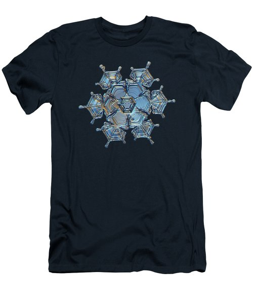 Men's T-Shirt (Athletic Fit) featuring the photograph Snowflake Photo - Flying Castle by Alexey Kljatov