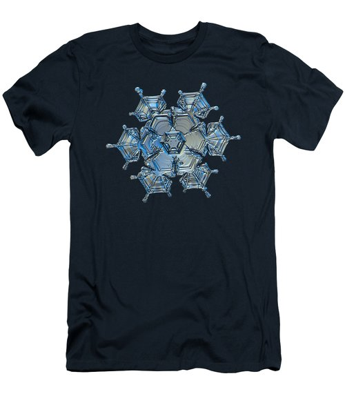 Snowflake Photo - Flying Castle Alternate Men's T-Shirt (Athletic Fit)
