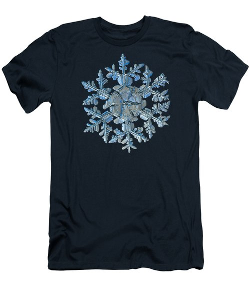 Men's T-Shirt (Slim Fit) featuring the photograph Snowflake Photo - Gardener's Dream by Alexey Kljatov
