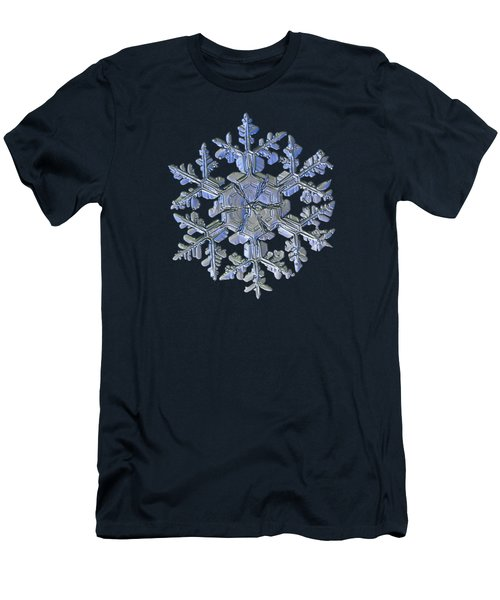 Men's T-Shirt (Slim Fit) featuring the photograph Snowflake Photo - Gardener's Dream Alternate by Alexey Kljatov