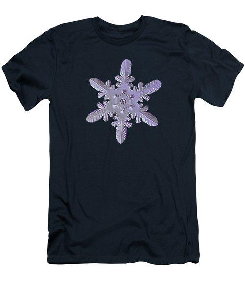 Snowflake Photo - Heart-powered Star Men's T-Shirt (Slim Fit) by Alexey Kljatov