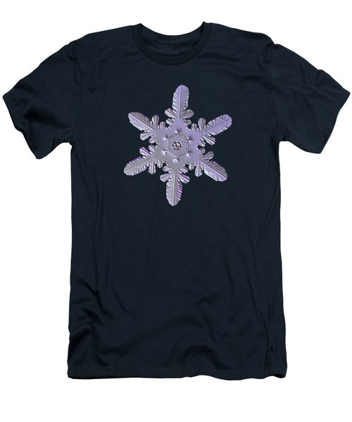 Men's T-Shirt (Athletic Fit) featuring the photograph Snowflake Photo - Heart-powered Star by Alexey Kljatov