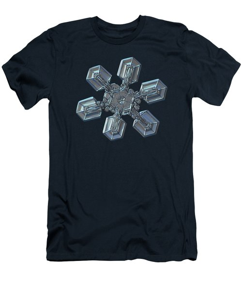 Men's T-Shirt (Slim Fit) featuring the photograph Snowflake Photo - High Voltage by Alexey Kljatov