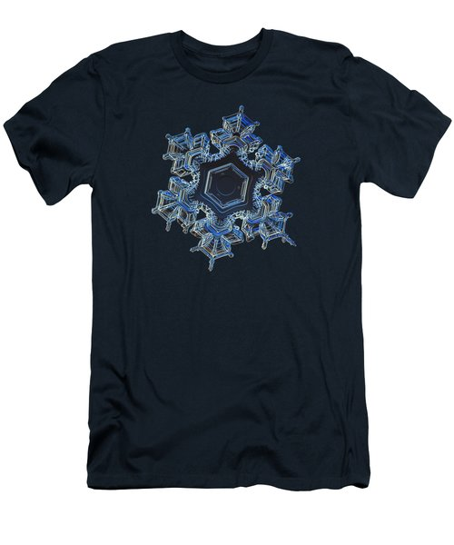 Men's T-Shirt (Slim Fit) featuring the photograph Snowflake Photo - Spark by Alexey Kljatov