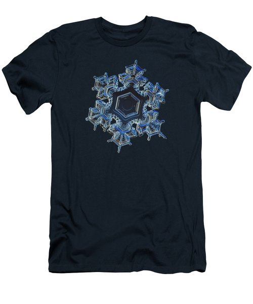 Snowflake Photo - Spark Men's T-Shirt (Athletic Fit)