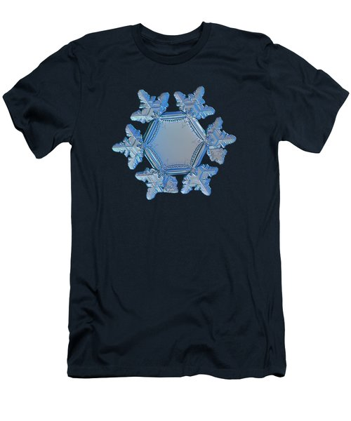 Snowflake Photo - Sunflower Men's T-Shirt (Athletic Fit)