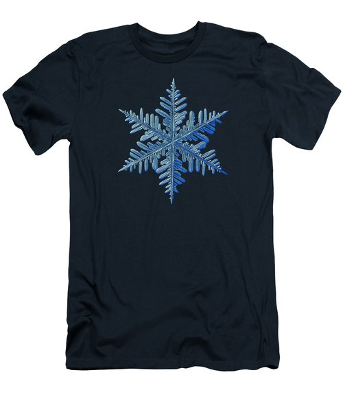 Men's T-Shirt (Slim Fit) featuring the photograph Snowflake Photo - Winter Is Coming by Alexey Kljatov