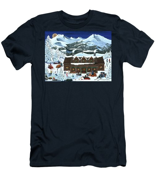Snowmobile Holiday Men's T-Shirt (Athletic Fit)