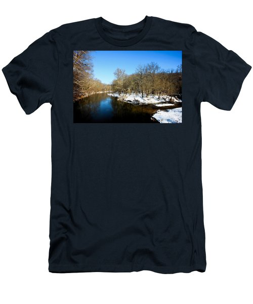 Snowy Creek Morning Men's T-Shirt (Athletic Fit)