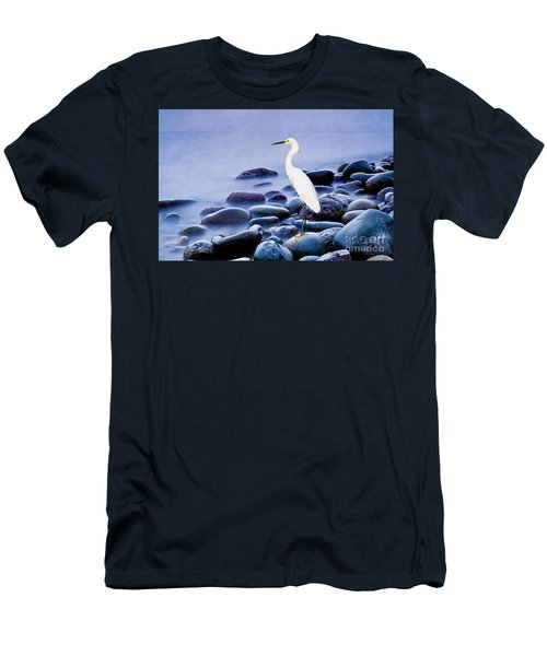Snowy Egret On The Rocks Men's T-Shirt (Athletic Fit)