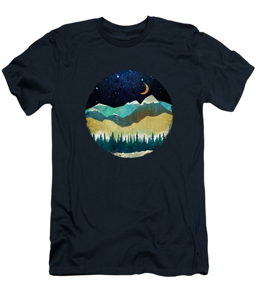 Snowy Night Men's T-Shirt (Athletic Fit)