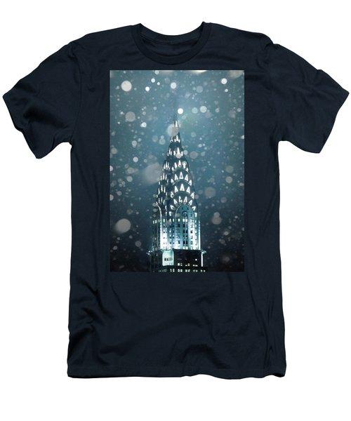 Snowy Spires Men's T-Shirt (Slim Fit) by Az Jackson