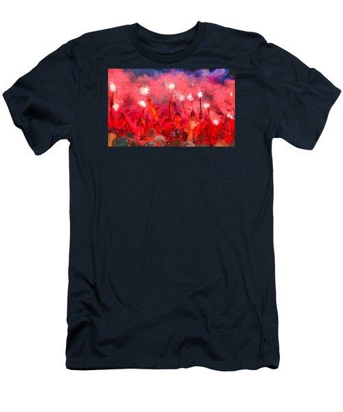 Soccer Fans Pictures Men's T-Shirt (Athletic Fit)