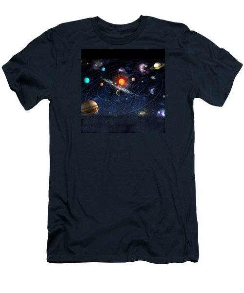 Men's T-Shirt (Slim Fit) featuring the digital art Solar System by Gina Dsgn