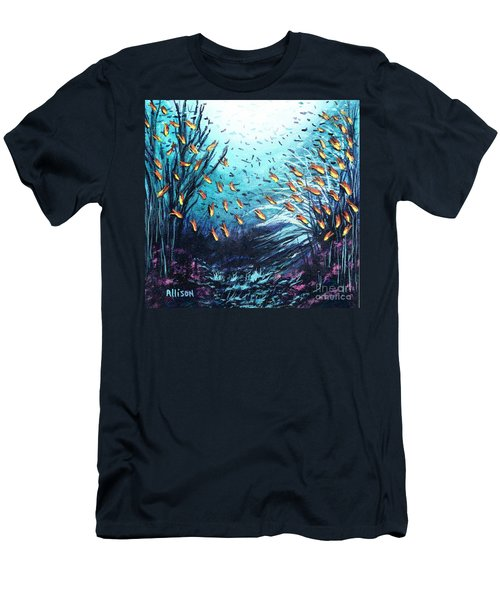 Soldier Fish And Coral  Men's T-Shirt (Athletic Fit)