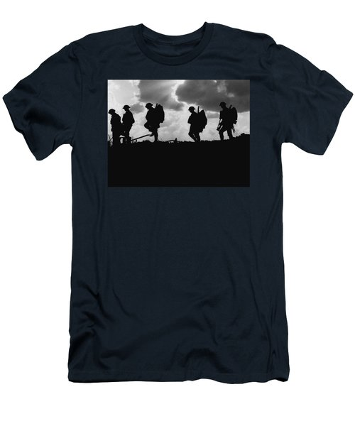 Soldier Silhouettes - Battle Of Broodseinde  Men's T-Shirt (Athletic Fit)