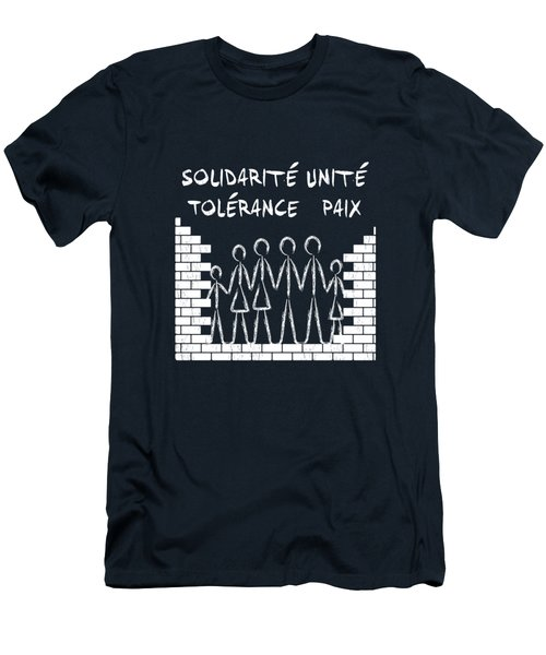 Solidarite Unite Tolerance Paix Men's T-Shirt (Athletic Fit)