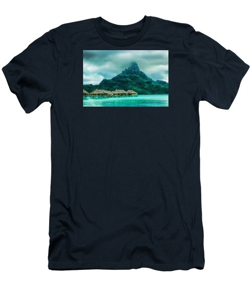 Men's T-Shirt (Slim Fit) featuring the photograph Solitude In Bora Bora by Gary Slawsky