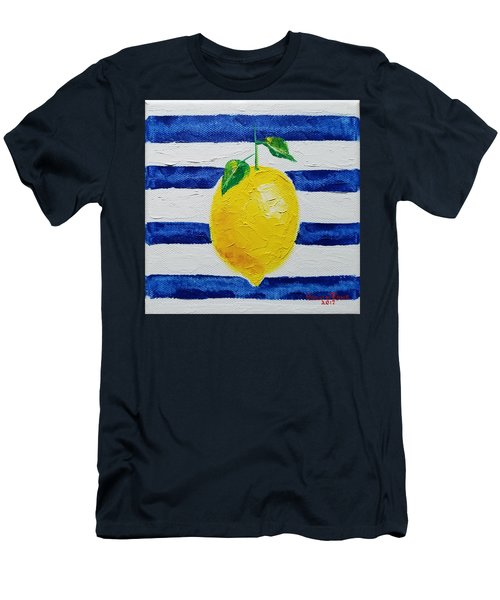 Men's T-Shirt (Athletic Fit) featuring the painting Sorrento Lemon by Judith Rhue