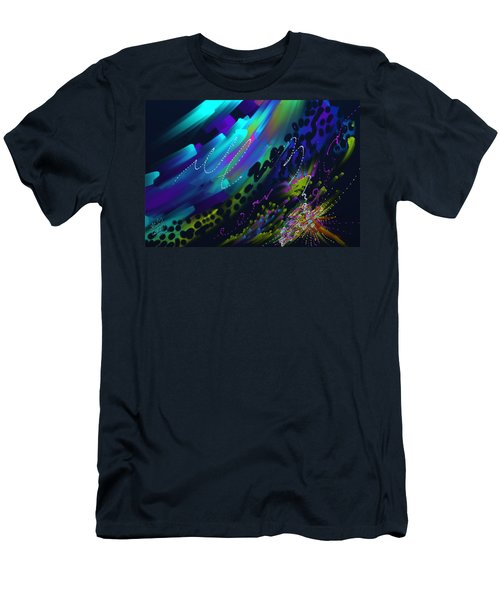 Men's T-Shirt (Slim Fit) featuring the painting Soul So Blue by Kevin Caudill