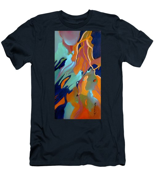 Men's T-Shirt (Slim Fit) featuring the painting Source by Rae Andrews