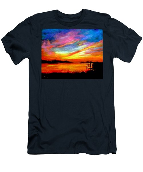 Southern Sunset Men's T-Shirt (Slim Fit) by Gail Kirtz