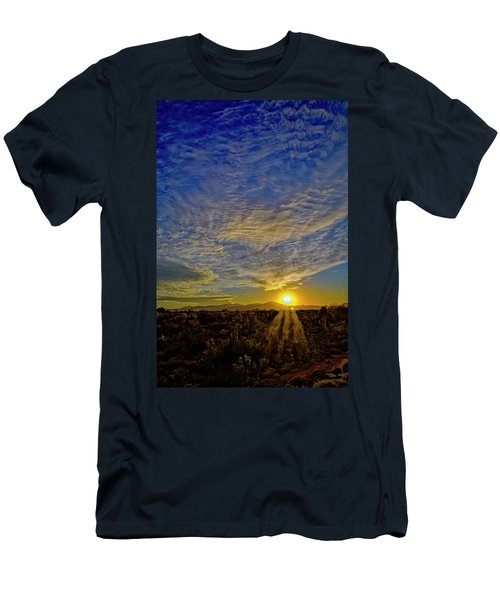 Men's T-Shirt (Athletic Fit) featuring the digital art Southwest Sunset Op40 by Mark Myhaver